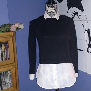 Loft Faux Button Up Collared Shirt
